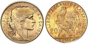 20 Франк Третья французская республика (1870-1940)  Золото