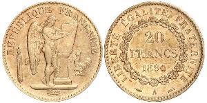 20 Франк Третя французька республіка (1870-1940)  Золото