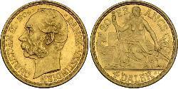 20 Франк / 4 Daler Дания Золото Кристиан IX король Дании (1818-1906)