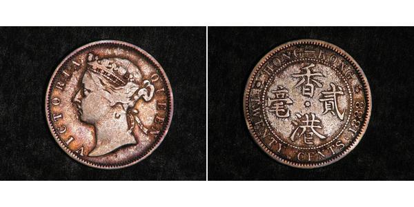 20 Цент Гонконг Серебро Виктория (1819 - 1901)