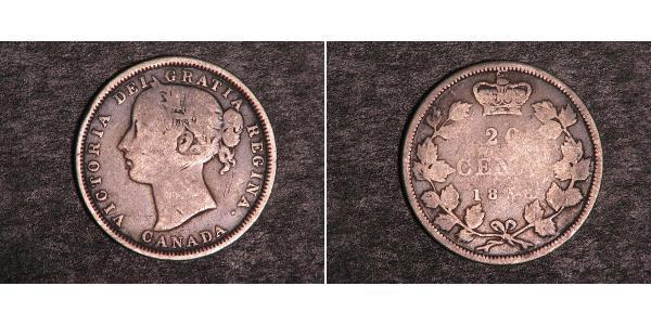 20 Цент Канада Серебро Виктория (1819 - 1901)