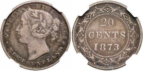 20 Цент Канада / Ньюфаундленд і Лабрадор Срібло Вікторія (1819 - 1901)
