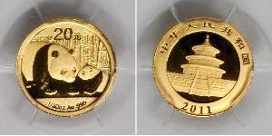 20 Юань Китайская Народная Республика Золото