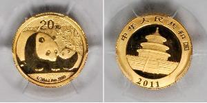 20 Юань Китайська Народна Республіка Золото