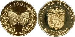 20 Balboa Republic of Panama Gold