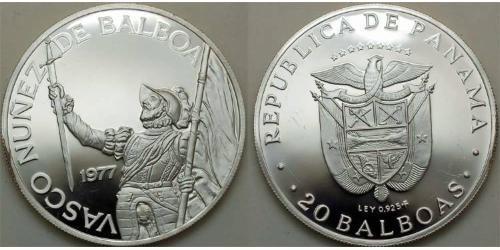 20 Balboa Panama Silber Vasco Núñez de Balboa (1475 – 1519)