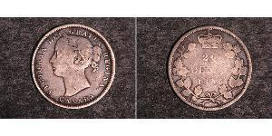 20 Cent 加拿大 銀 维多利亚 (英国君主)