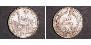 20 Cent French Indochina (1887-1954) 銀