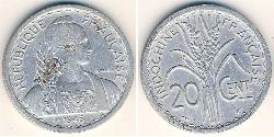 20 Cent French Indochina (1887-1954) Aluminium
