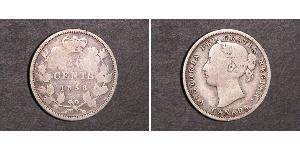 20 Cent Canada Argento Vittoria (1819 - 1901)
