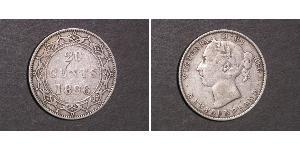 20 Cent Canada / Terranova e Labrador Argento Vittoria (1819 - 1901)