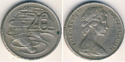 20 Cent Australien (1939 - ) Kupfer/Nickel Elizabeth II (1926-)