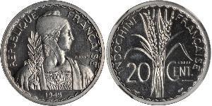 20 Cent Französisch-Indochina (1887-1954) Kupfer/Nickel