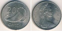 20 Cent Fiyi Níquel/Cobre Isabel II (1926-)