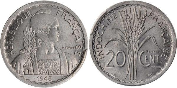 20 Cent Indochina francesa (1887-1954) Níquel/Cobre