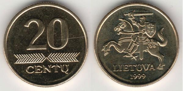 20 Cent Lituania (1991 - ) Ottone