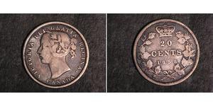 20 Cent Canadá Plata Victoria (1819 - 1901)