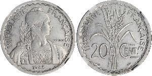 20 Cent Indocina francese (1887-1954) Rame/Nichel
