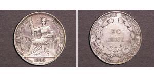 20 Cent Französisch-Indochina (1887-1954) Silber