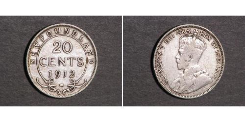 20 Cent Neufundland und Labrador Silber George V (1865-1936)