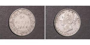 20 Cent Neufundland und Labrador / Kanada Silber Victoria (1819 - 1901)
