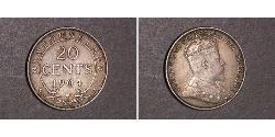 20 Cent Canada Silver Edward VII (1841-1910)