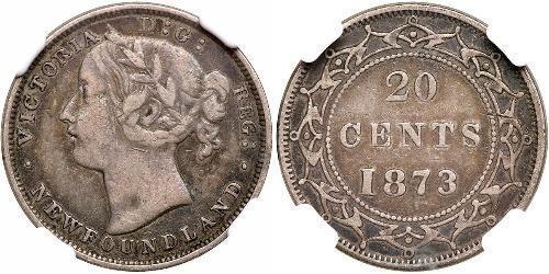 20 Cent Canada / Newfoundland and Labrador Silver Victoria (1819 - 1901)