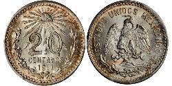 20 Centavo 墨西哥 銀