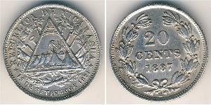 20 Centavo Nicaragua 銀