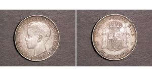 20 Centavo Puerto Rico 銀 阿方索十三世 (1886 - 1941)