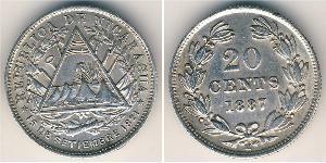 20 Centavo Nicaragua Argento