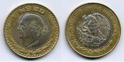 20 Centavo United Mexican States (1867 - ) Bimetal Miguel Hidalgo