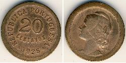 20 Centavo First Portuguese Republic (1910 - 1926) Bronze