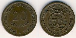 20 Centavo Mozambique Bronze