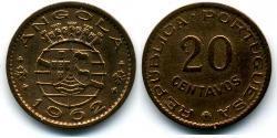 20 Centavo Portuguese Angola (1575-1975) / Portugal Bronze