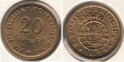 20 Centavo São Tomé and Príncipe (1469 - 1975) Bronze