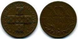 20 Centavo Second Portuguese Republic (1933 - 1974) Bronze