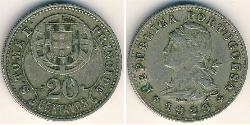 20 Centavo São Tomé and Príncipe (1469 - 1975) Bronze/Nickel