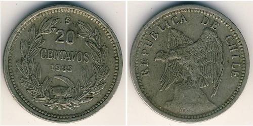 20 Centavo Chile Kupfer/Nickel