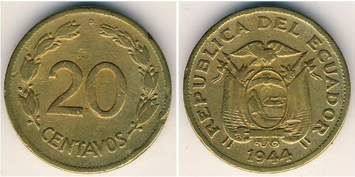 20 Centavo Ecuador Messing