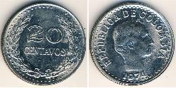 20 Centavo Republic of Colombia (1886 - ) Nickel