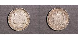 20 Centavo República Dominicana Plata