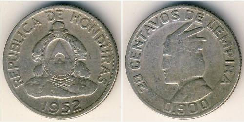 20 Centavo Honduras Silber