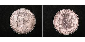 20 Centavo Puerto Rico Silber Alfonso XIII of Spain (1886 - 1941)