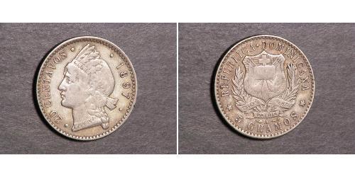 20 Centavo Dominican Republic Silver