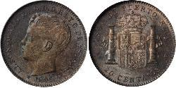 20 Centavo Puerto Rico  Alfonso XIII of Spain (1886 - 1941)