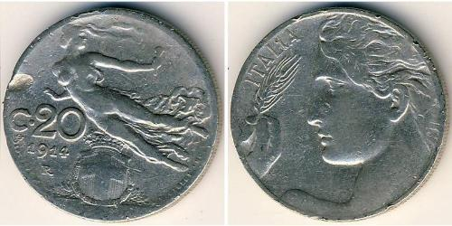 20 Centesimo Kingdom of Italy (1861-1946) Nickel