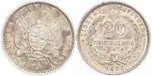 20 Centesimo Uruguay Silver