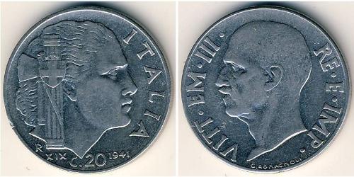 20 Centesimo 意大利王國 (1861-1946) Stainless steel