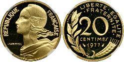 20 Centime 法蘭西第五共和國 / 法国 金